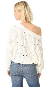 decor home furnishings free people desert sands cable pullover ivory women clothing