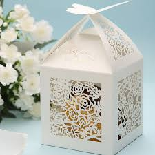 wedding party favor boxes wedding favor candy box with 3d carved butterflies hollowed out