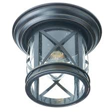 Outdoor Ceiling Lights New England Coastal Rubbed Oil Bronze Outdoor Flush Mount Ceiling