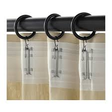 Hooks For Curtains Syrlig Curtain Ring With Clip And Hook Black Ikea
