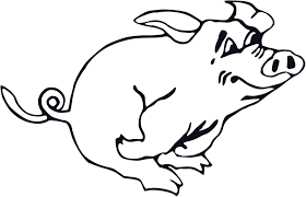 pig free stock photo illustration running cartoon pig