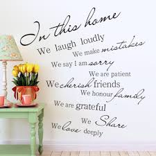 popular family wall decal quotes buy cheap family wall decal house rules vinyl wall decal sticker in this house we love deeply wall sticker family