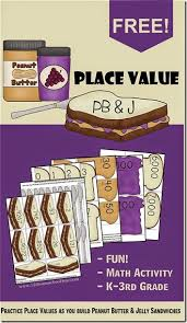 printable math games on place value place value pb and j math game