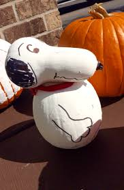 snoopy pumpkin painting halloween ideas gourd peanuts charlie