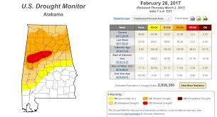 Us Drought Map Latest On Alabama U0027s Drought Situation U2013 3 2 2017 The Alabama