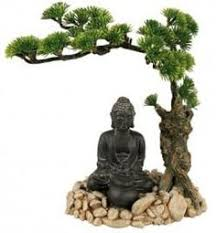 blue ribbon zen with plants aquarium ornament planted