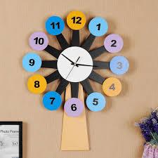 kingart child digital wooden wall clock decorative kids room