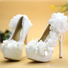 wedding shoes for girl 2016 wedding shoes white pink lace flowers wedding