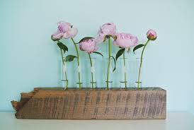 single stem vases diy test tube flower vase with reclaimed wood base
