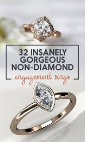 non wedding rings 32 insanely sparkly engagement rings that don t use a single