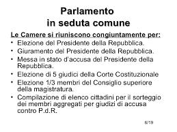 parlamento seduta comune parlamento parte prima