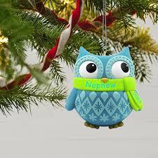 amazon com hallmark keepsake 2017 cute owl nephew dated christmas