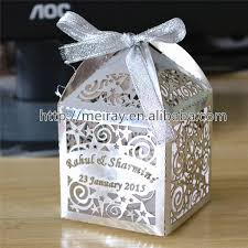 wholesale wedding favours gifts laser cut wedding favor boxes