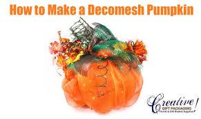 how to make a deco mesh pumpkin youtube