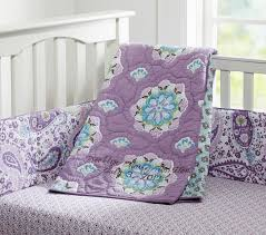 Purple Bedding For Cribs Baby Bedding Set Pottery Barn