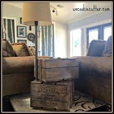 Free Plans To Build End Tables by Build Your Own Stacked Crate End Table Hometalk