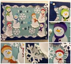 winter designs snowman bulletin board speech room style