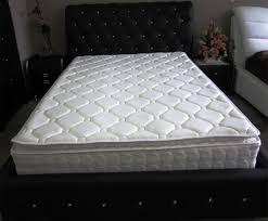 pocket spring latex and memory foam pillow top queen size mattress