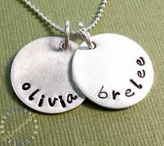 sterling silver personalized jewelry custom sted necklace personalized jewelry sterling