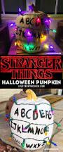 stranger things pumpkin and halloween ideas strange things