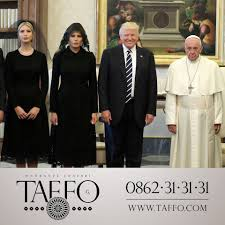 trump pope francis trump met pope francis and changed his twitter banner to prove it