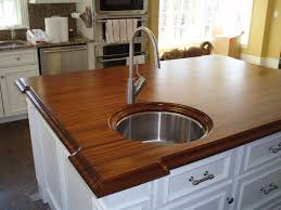 Wood Island Kitchen by Premium Wide Plank Wood Countertops Brooks Custom