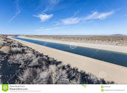 California Aqueduct Map California Aqueduct Near Los Angeles California Stock Photo