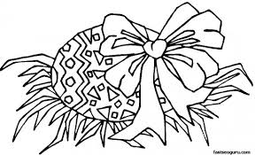 printable easter egg with bow coloring page printable coloring
