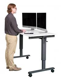 Computer Desk Stand 60 Crank Adjustable Height Sit To Stand Desk Stand Up Desk Store