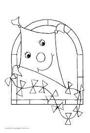 kite color coloring pages kids miscellaneous coloring