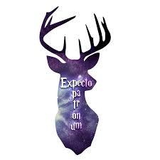 expecto patronum spell inspired deer head magic sticker 5