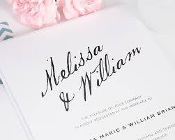 Calligraphy Wedding Invitations Wedding Invitations With Modern Calligraphy U2013 Wedding Invitations