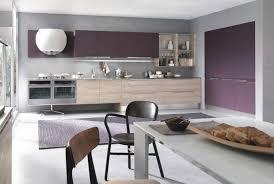 mur cuisine aubergine peinture mur cuisine taupe idée de modèle de cuisine