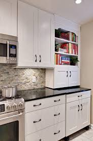 Glass Tile Backsplash With White Cabinets Brown Glass Tile Backsplash Kitchen Contemporary With None