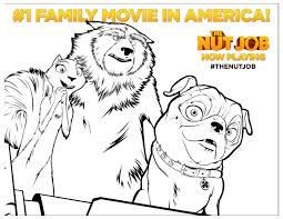 nut coloring page the nut job movie printable coloring page mama likes this
