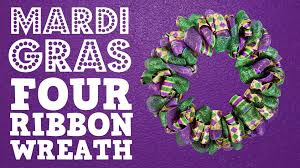 Halloween Wreath Supplies by Mardi Gras Four Ribbon Wreath Youtube