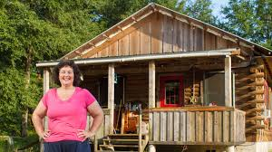 she bought a little land bought a log cabin kit and built her