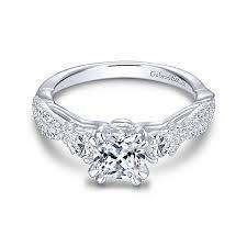 daimond ring three diamond rings 3 stones engagement rings gabriel co
