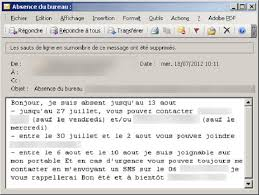 message d absence du bureau top 5 des de l été