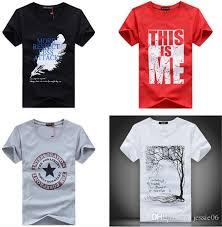 t shirts print fashion sleeves cotton