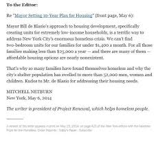 my letter to the editor in today u0027s new york times u2014 project renewal