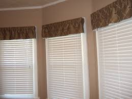 interior traditional brown valance combined white acrylic venetian