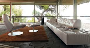 White Leather Tufted Sofa Furniture Grey Leather Tufted Long Couches With Wood Legs For