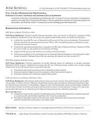 bookkeeper resume exles bookkeeping resume exle exles of resumes