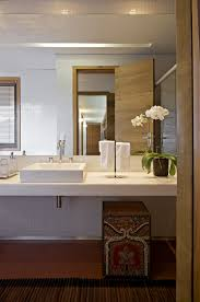 white wall paint concrete vanity with washasbin stainless steel