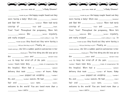 baby mad libs baby shower guestbooks and activities a freebie