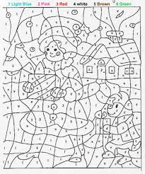 kids activity paint by numbers online or print out christmas