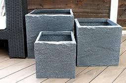 Square Plastic Planters by Europlanters Buy On Line Plant Pots Plastic Planters Metal