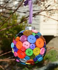 button snowman ornament one artsy