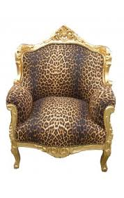 Leopard Armchair Chair Baroque Rococo Style Leopard And Gold Wood